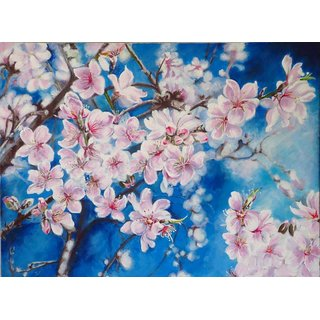 Almond Flowers Acrylic on Canvas 18x24 inches