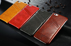 Genuine Leather Back Cover Case for iPhone 6 Plus  6S Plus  5.5 Inch