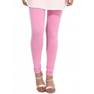 AMoCo Womens Babypink Cotton Spandex Churider Leggings