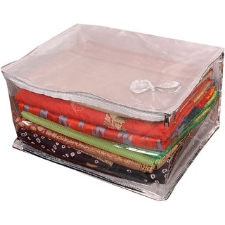 Arham Premium Silver Tissue Top Box Saree Cover