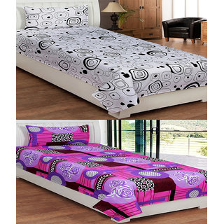 ShopSince Floral Single Bedsheet set of 2