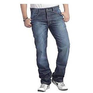 Denim Men's Blue Shaded Jeans
