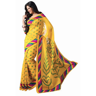Mod Indian Fashionista Bhagalpuri Silk Saree With Blouse Piece.