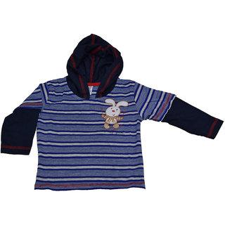 Mama  Bebes Infant Wear - Infant / Kids Hooded Tshirts ,Color-Blue Emzmbboyhood2C