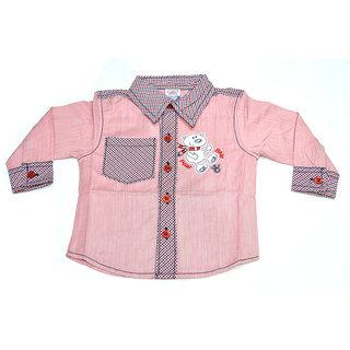 Mama  Bebes Infant Wear - Infant / Boys Full Seleeves Shirts,Color-Pink Emzmbboyshirt3C