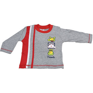 Mama  Bebes Infant Wear - Infant / Kids Full Seleeves Tshirts ,Color-Grey Emzmbboytee3C