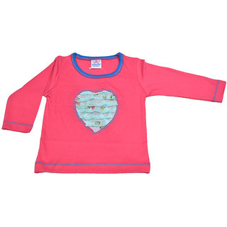 Mama  Bebes Infant Wear - Infant / Kids Full Seleeves Tshirts ,Color-Pink Emzmbboytee7A