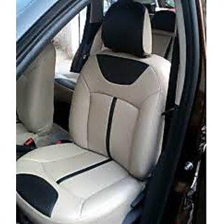 Honda Amaze Beige Leatherite Car Seat Cover