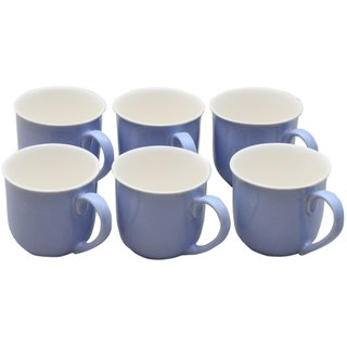 Potters Story Blue Ceramic Tea Mug Set Of 6 For Parents (170 Ml  7 Cm)-Lc2005