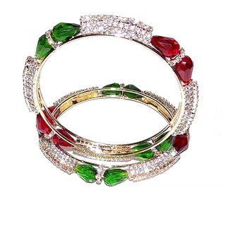 Jewels Kafe Designer Bangles Set of 2