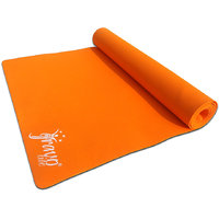 Gravolite 3Mm Thickness 3 Feet Wide 6 Feet Length Plain Yoga Mat Orange Color With Strap