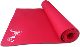Gravolite 10Mm Thickness 2.5 Feet Wide 6.5 Feet Length Plain Yoga Mat Red Color With Strap