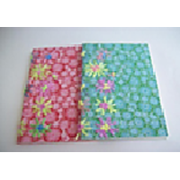 Handmade Paper Notebook - Fabric With Floral Embroidery