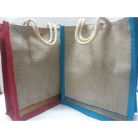 TRENDY JUTE GIFT / SHOPPING / LUNCH BAGS (SET OF 2)
