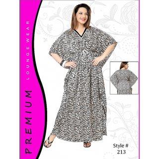cfe8fca7ff Womens Sleep Wear 1pc Printed Kaftan New Nighty 213 Animal Printed Gown  Daily Maxi