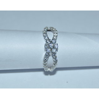 925 SILVER RING STUDDED WITH CZ