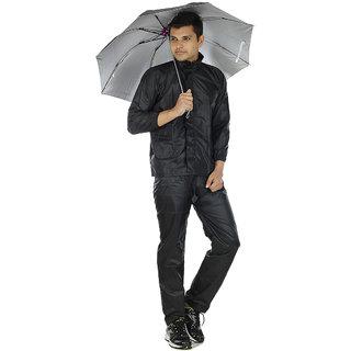 Takson Sales Black Plain Rain Coat (Combo)