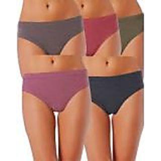 5 pc Ladies Cotton Panties Plain Astd Color(Sizes M-85 cm,L-90 cm,Xl-95 cm,XXL-100-105 cm)