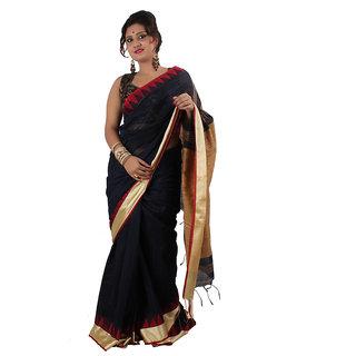 Bengal Handloom Velvet Par Saree