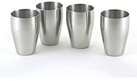 Stainless Steel Glasses Set Of 4