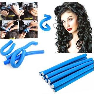 Hair Rollstick 10 Pieces Hair Curling Flexi Rods Magic Air Hair Roller Curler