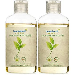 Healthbuddy Herbal Anti Dandruff Hair Oil 2Packs Of 200 Ml Each