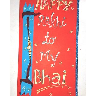 Buy handmade happy rakhi greeting card with rakhi online get 67 off handmade happy rakhi greeting card with rakhi m4hsunfo