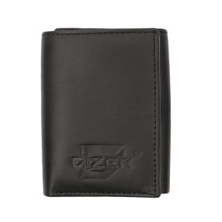 Dizer FW09 12220751 Genuine Leather BlackTrifold Mens Wallet