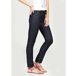 Lee Black Roxy Mid Skinny Tapered  Jeans