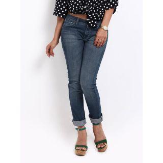 Lee Dark Blue Roxy Mid Stylish Skinny Tapered Jeans