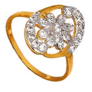 Maayra Stylish American Diamond Wedding Free-size Finger Ring