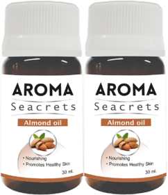 Biotrex Aroma Seacrets Almond Essential Oil for Healthier Skin and Hair (30ml) - Pack of 2