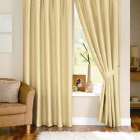 Beautiful Solid Crush Curtain -Dark Cream (Set Of 2)