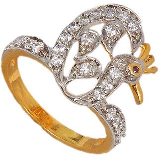 Maayra Lively American Diamond Wedding Free-size Finger Ring