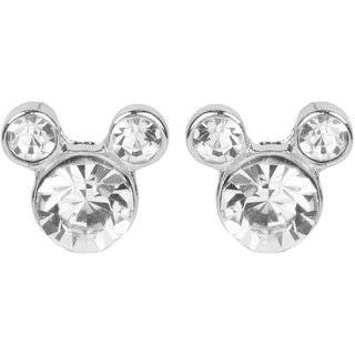 Crystal Studded Mikki Mouse Shaped Stud Earrings for Baby Girls From NeedyBee