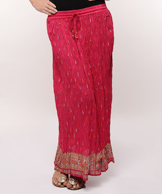 Rajasthani Sarees Red Printed A-Line Skirts