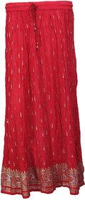 Cotton Crinkled Long Skirt
