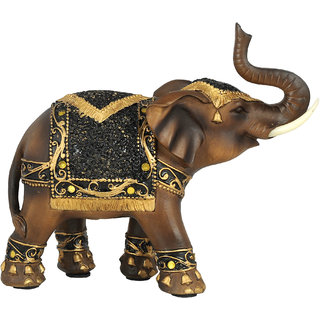 K.S Elephant Brown Showpiece in Resin for Living room