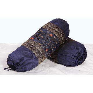 Embroidery Bolster Pair (Blue)