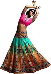 Fashion Galleria Printed Womens Lehenga Choli
