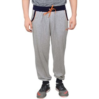 NNN Mens Grey Full Length Cotton Sports Track Pant