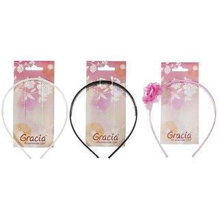 Gracia Chic Head Band Black+White+Pink