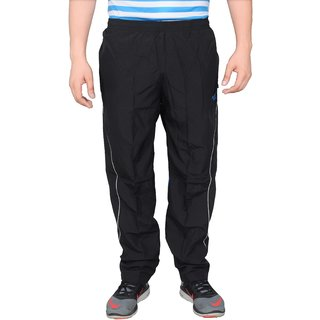 NNN Mens Black Full Length Dry Fit Micro Polyester Track Pant