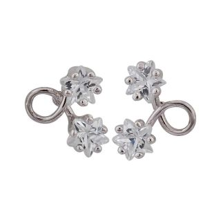 Maayra Fantastic Silver American Diamond Office Stud Earrings
