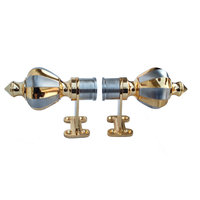 Aone Quality 1003 Gold Chrome Zinc Curtain Brackets - Pack Of 2