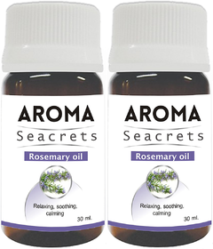 Biotrex Aroma Seacrets Rosemary Essential Oil, Promotes Relaxation and Calmness (30ml) - Pack of 2