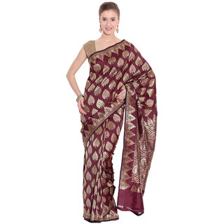 Kataan Bazaar Multicolor Art Silk Self Design Saree With Blouse