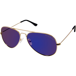 David Blake Blue Polarised Reflector Mirror Aviator Sunglass