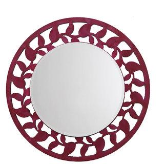Height Of Designs Leaf Border Mirror