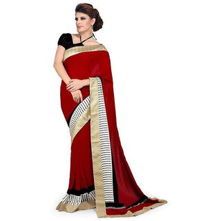 Vipul Multicolor Art Silk Lace Saree With Blouse